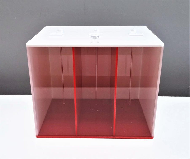 3 PART DOSING CONTAINER - RED & WHITE