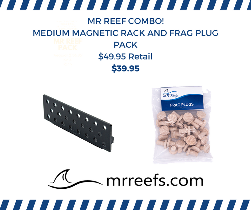 MR REEFS Combo - Medium Magnetic Rack and Frag Plug Pack