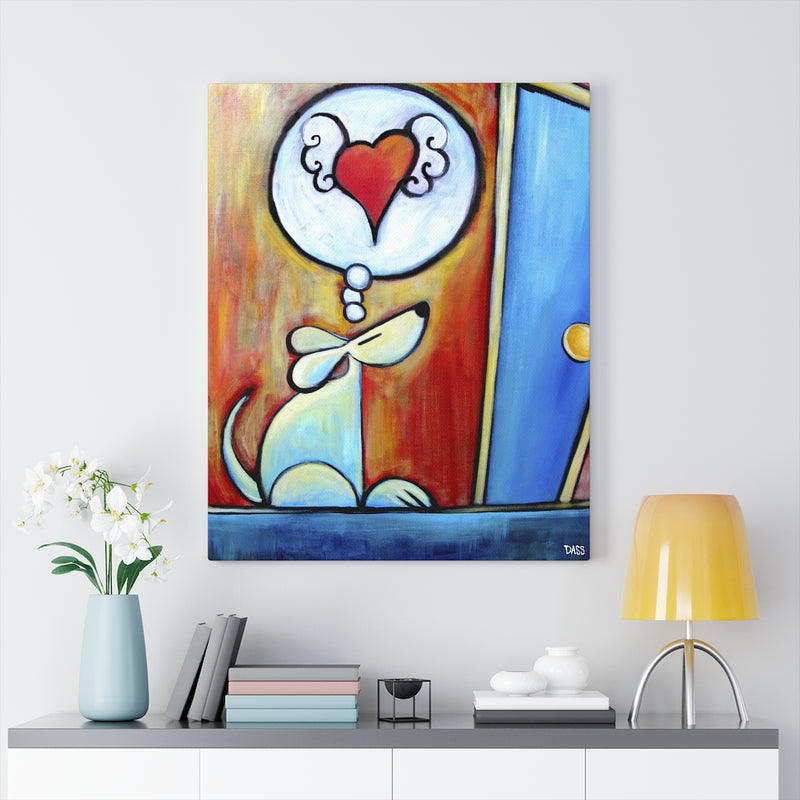 Waiting for you... (Dog) Canvas Gallery Wraps