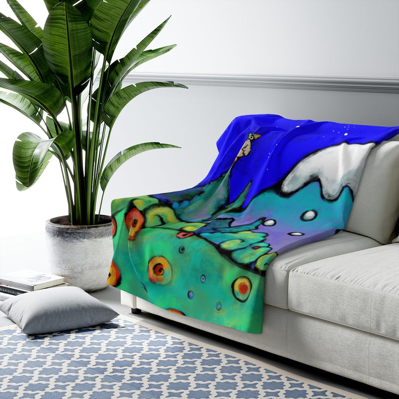 The Mountains are Calling Sherpa Fleece Blanket