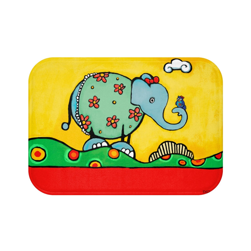 Elephant from Be Who You Are Book Plush Bath Mat