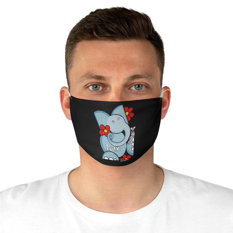 Elephant Love Fabric Face Mask