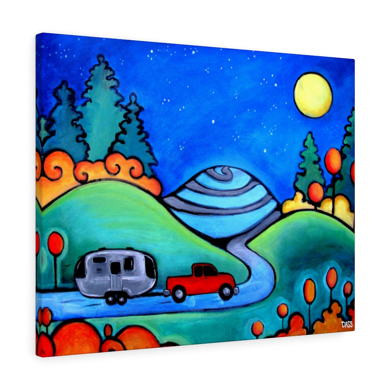 Follow Your Dreams (Airstream Camping Travel) Canvas Gallery Wrap