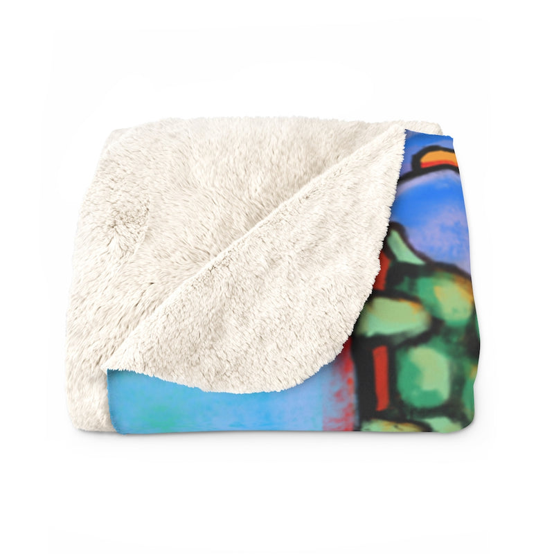 The Doggie Lama Sherpa Fleece Blanket
