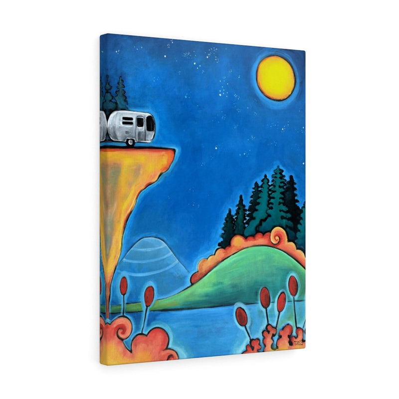The Road Less Traveled (Airstream camper) Canvas Gallery Wraps