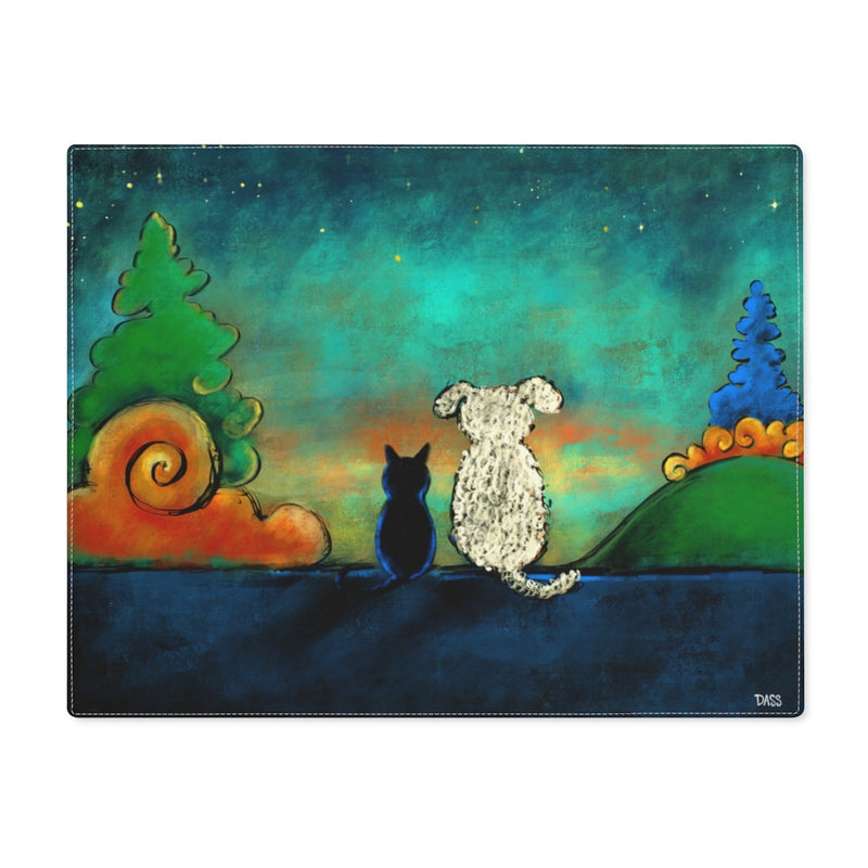 Friendship Dog and Cat Placemat