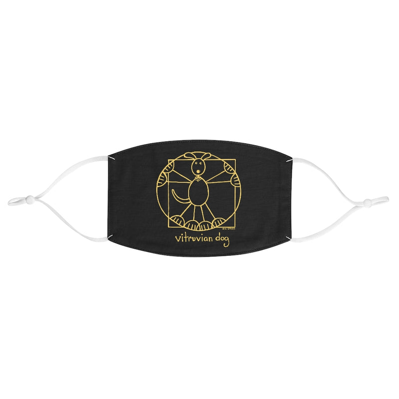 Vitruvian Dog Fabric Face Mask