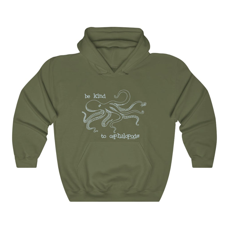Be Kind to Cephalopods Unisex Hooded Sweatshirt