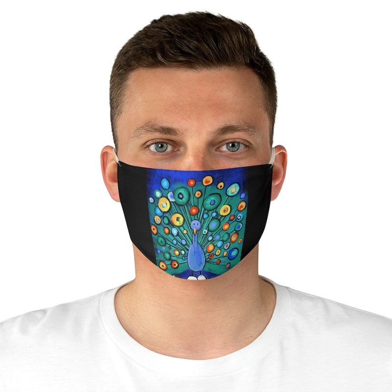 Peacock Fabric Face Mask
