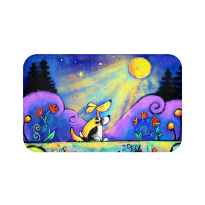 No Place I Would Rather Be Two Dogs Under Moon Plush Bath Mat