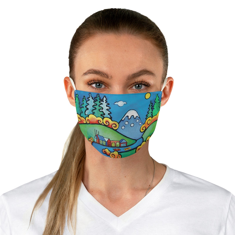 Oregon Whimsical Landscape Fabric Face Mask