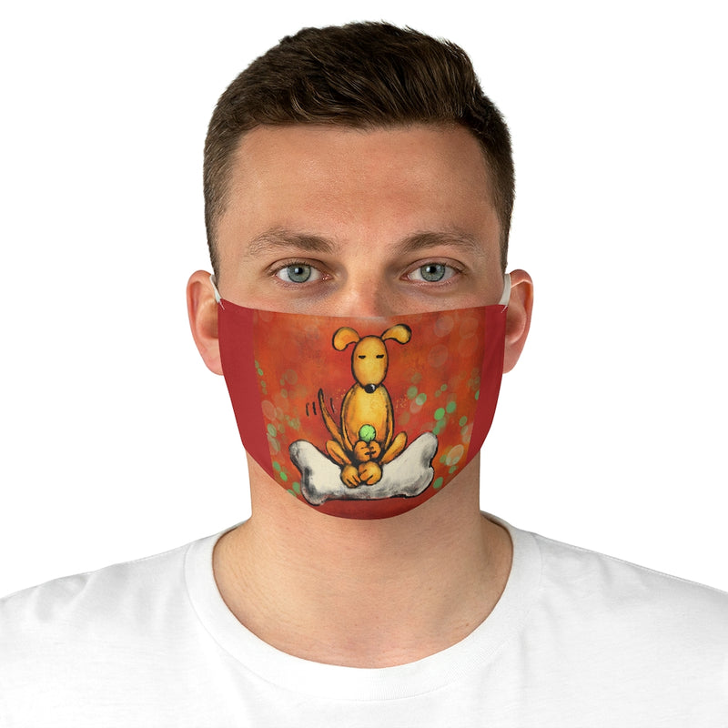 Doggie Enlightenment Fabric Face Mask