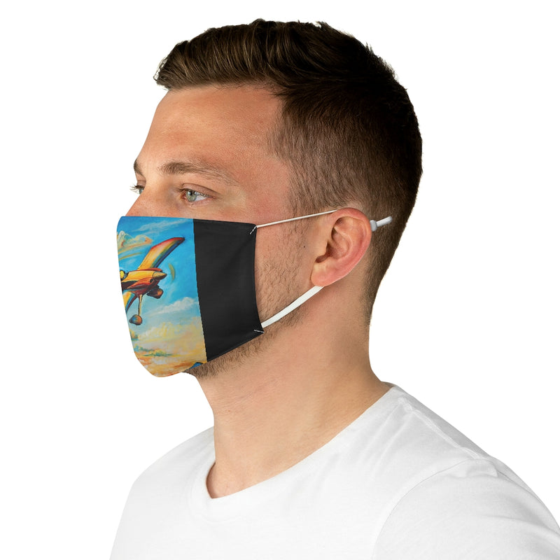Home for Sunset Pilot Dog Fabric Face Mask