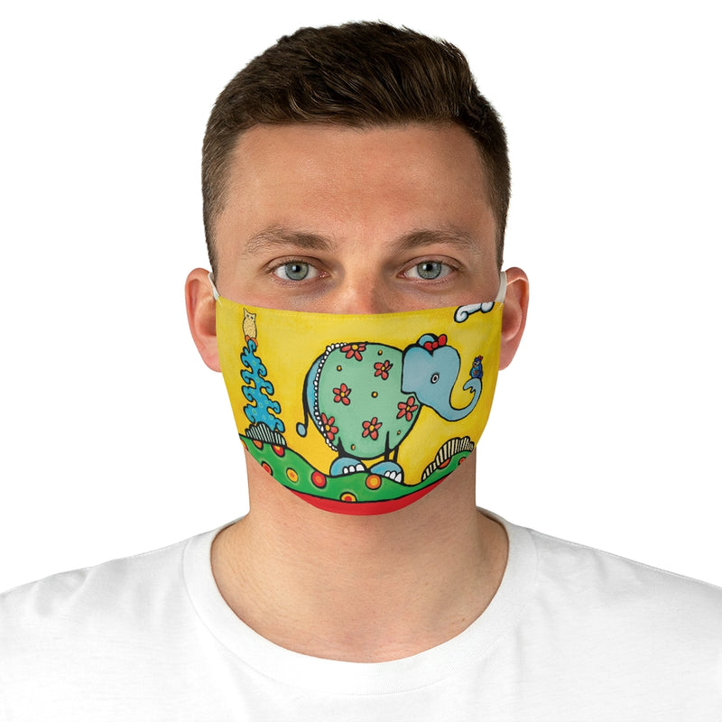 Elephant Art from Be Who You Are Book Fabric Face Mask