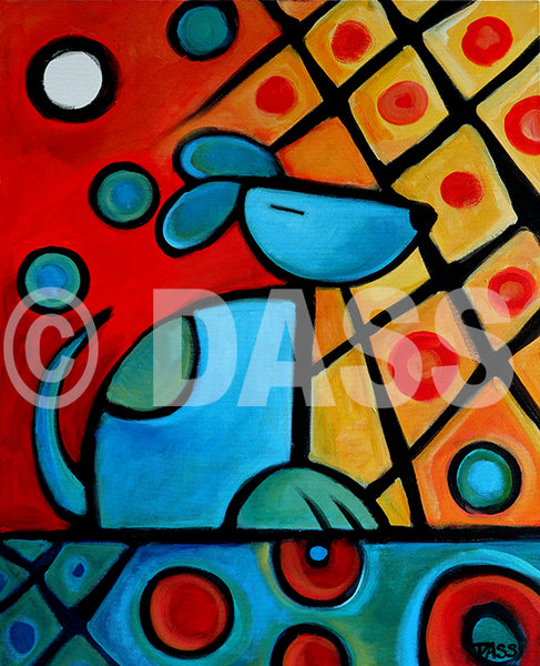 Picasso's Dog - Colorful Animal, Aviation, whimsical, Airstream, Quotes Art Kids, Pediatrics, Happy Art