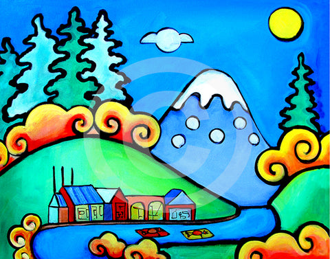 Oregon Daydreams - Colorful Animal, Aviation, whimsical, Airstream, Quotes Art Kids, Pediatrics, Happy Art