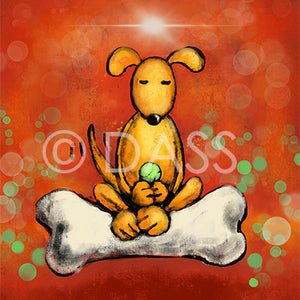 DOGGIE-LIGHTENMENT - Colorful Animal, Aviation, whimsical, Airstream, Quotes Art Kids, Pediatrics, Happy Art