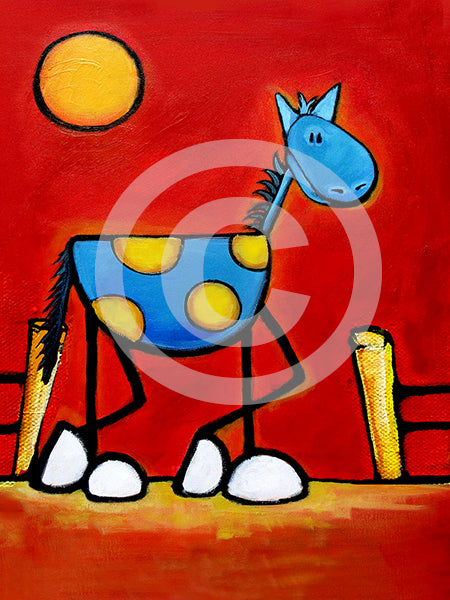 Don't Fence Me In! Horse Art - Colorful Animal, Aviation, whimsical, Airstream, Quotes Art Kids, Pediatrics, Happy Art