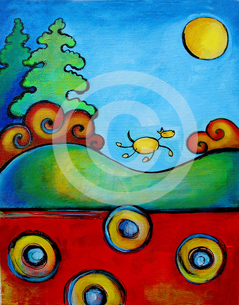 Live Free! - Colorful Animal, Aviation, whimsical, Airstream, Quotes Art Kids, Pediatrics, Happy Art