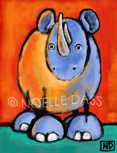 Be Kind to Rhinos Pachyderms Against Poaching - Colorful Animal, Aviation, whimsical, Airstream, Quotes Art Kids, Pediatrics, Happy Art
