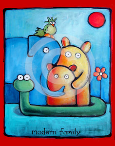 Modern Family Original Painting