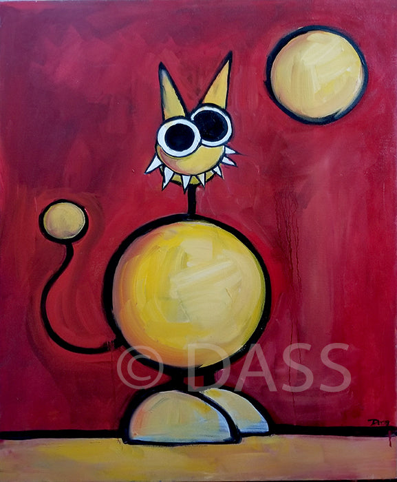 Be Beautiful Monster Oil Painting - Colorful Animal, Aviation, whimsical, Airstream, Quotes Art Kids, Pediatrics, Happy Art