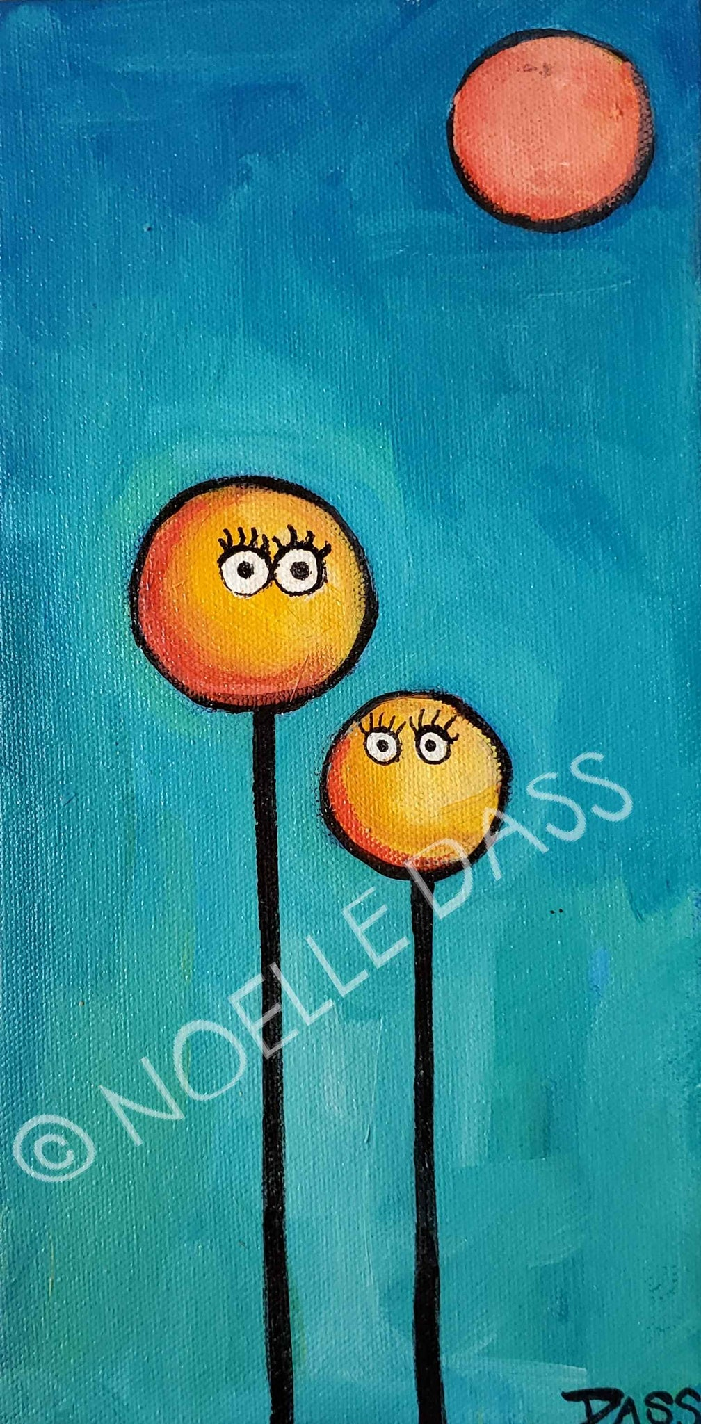 Daily Painting #28 Poppy Couple SOLD