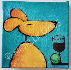 Dog All Ready to Watch Masterpiece Theatre! Made to Order - Colorful Animal, Aviation, whimsical, Airstream, Quotes Art Kids, Pediatrics, Happy Art