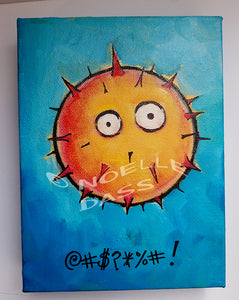 Daily Painting #2 Blowfish @#$%$# !! SOLD