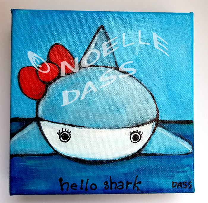 Daily Painting #3 Hello Shark SOLD