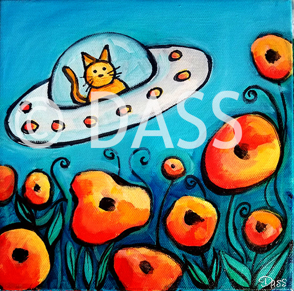 Cat in UFO SOLD