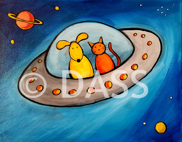 The Great Escape Series. Cat and Dog in UFO