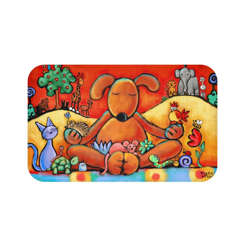 Plush Bath Mat SAMPLE | Enter the painting you want at checkout
