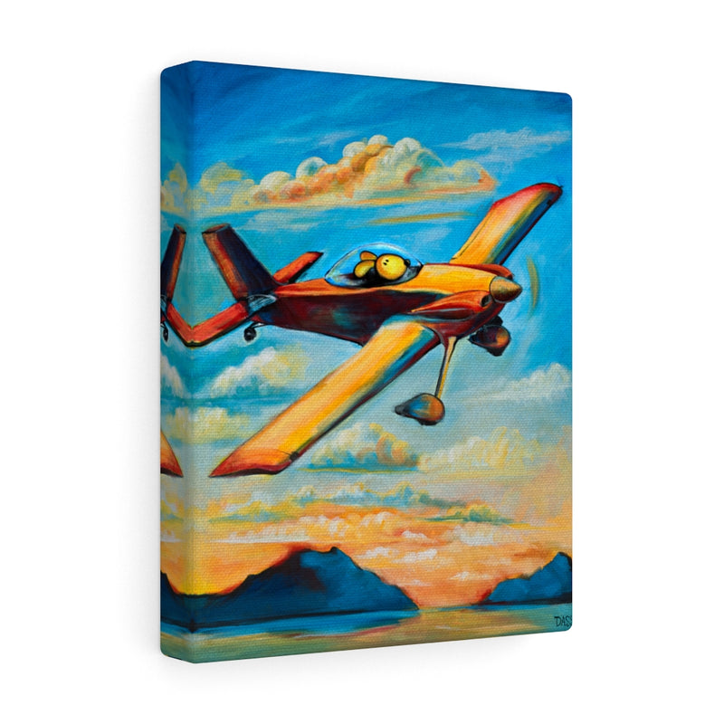 Home for Sunset (Pilot Dog)  Canvas Gallery Wraps