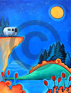 The Road Less Traveled Camping Airstream Art