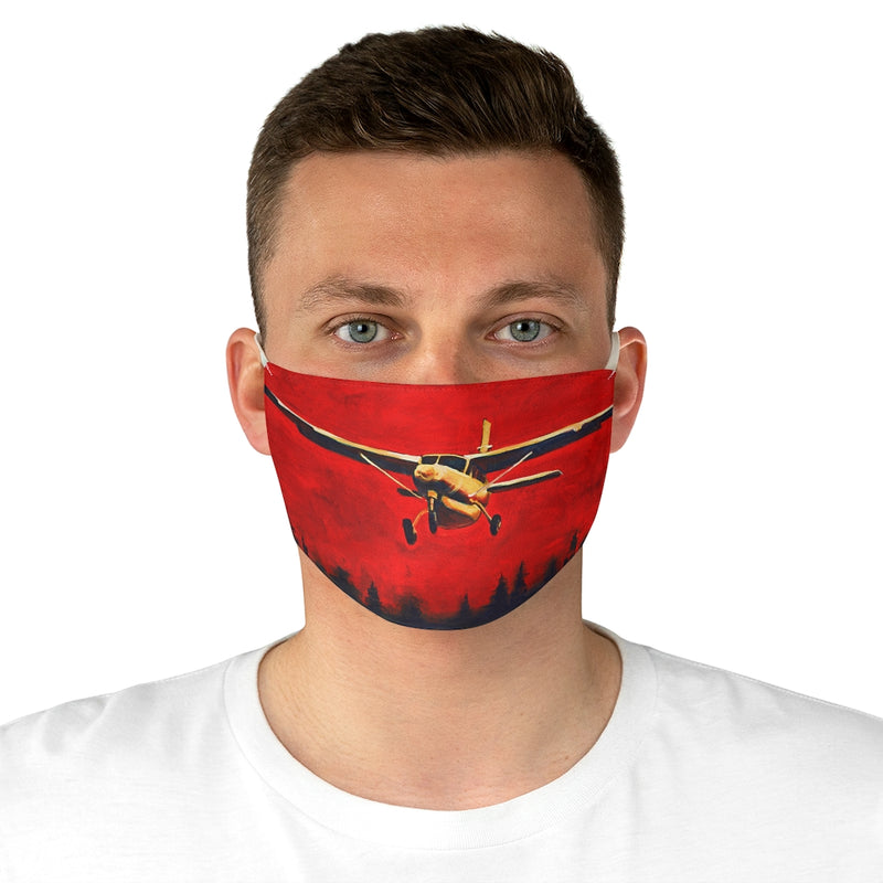 Into the Fire Cessna 208 Fabric Face Mask
