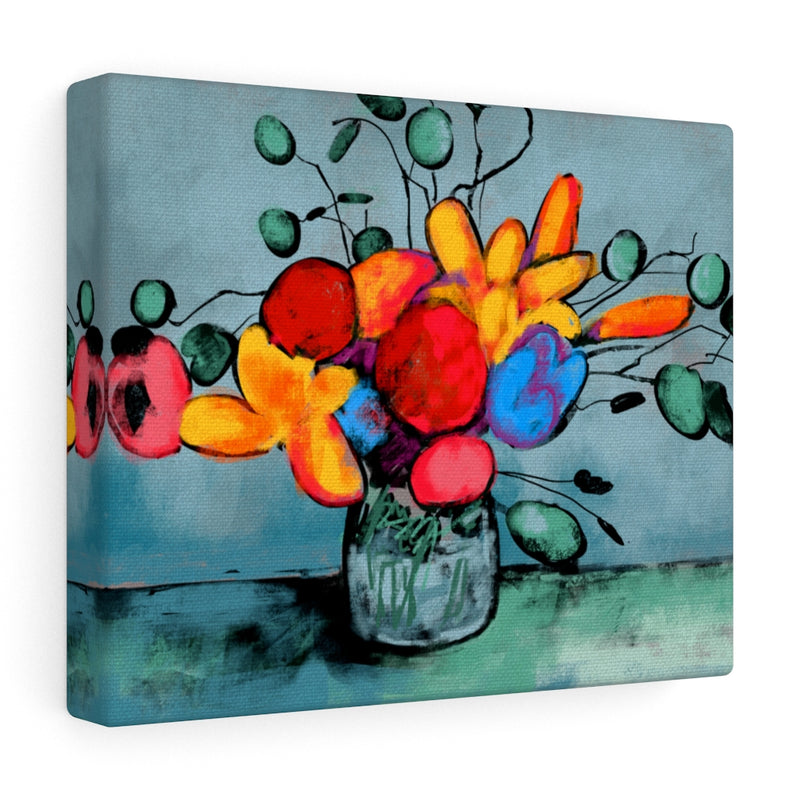 Birthday Flowers Canvas Gallery Wraps