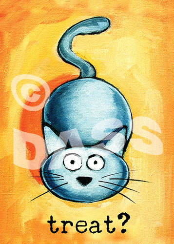 Treat? Cat art - Colorful Animal, Aviation, whimsical, Airstream, Quotes Art Kids, Pediatrics, Happy Art