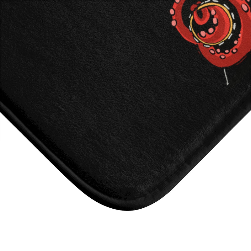 Rocktopus (Octopus) Black Plush Bath Mat