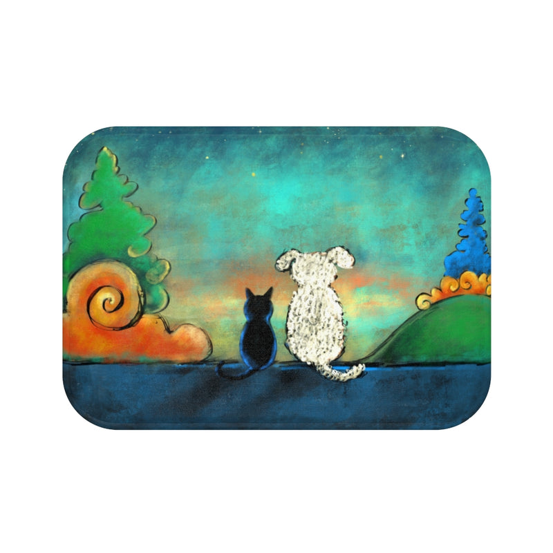 Friendship Dog and Cat Plush Bath Mat