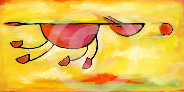 Must...Get...Ball!  Dog Art - Colorful Animal, Aviation, whimsical, Airstream, Quotes Art Kids, Pediatrics, Happy Art