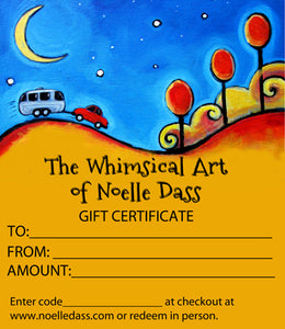 GIFT CERTIFICATES - Colorful Animal, Aviation, whimsical, Airstream, Quotes Art Kids, Pediatrics, Happy Art
