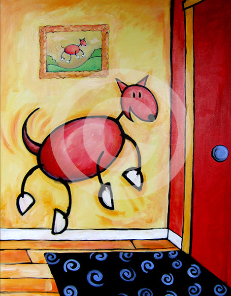 The Joy of Homecoming! Dog Art - Colorful Animal, Aviation, whimsical, Airstream, Quotes Art Kids, Pediatrics, Happy Art
