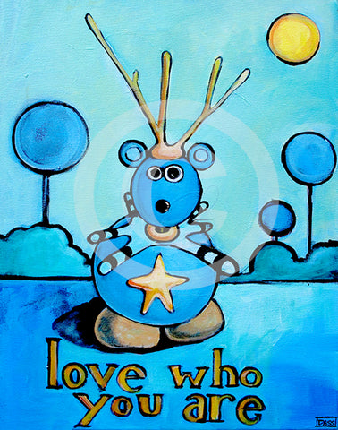 Love Who You Are - Colorful Animal, Aviation, whimsical, Airstream, Quotes Art Kids, Pediatrics, Happy Art