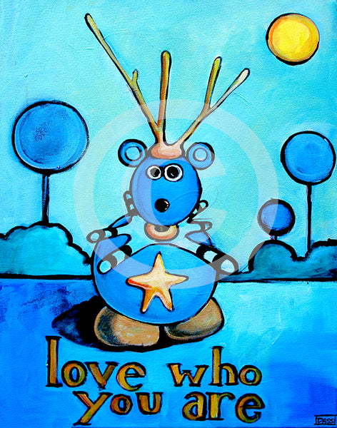 Love Who You Are 16x20 Canvas