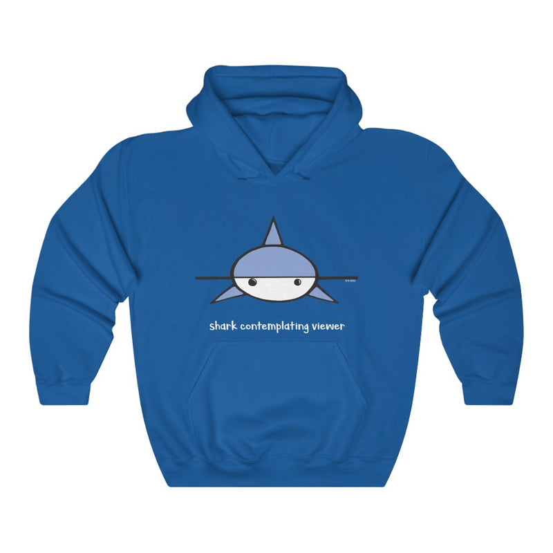 Shark Contemplating Viewer Unisex Hooded Sweatshirt