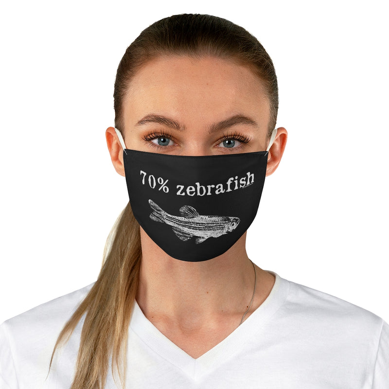70% Zebrafish Fabric Face Mask