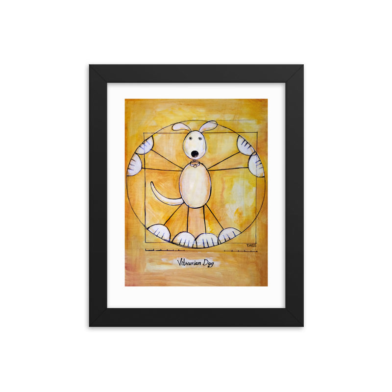 Vitruvian Dog Framed Art Print