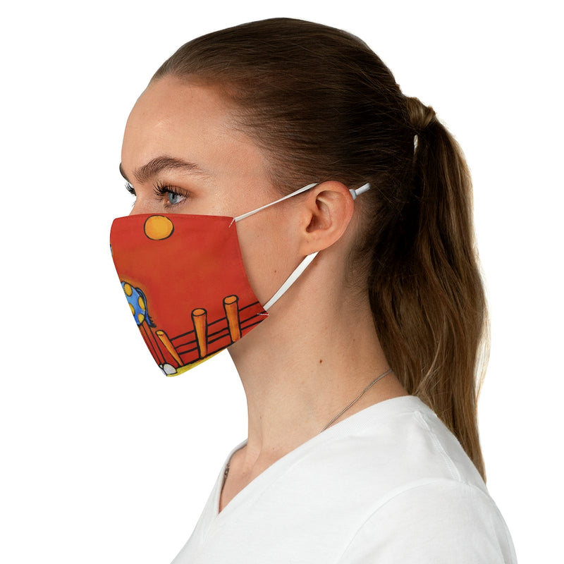 Don't Fence Me In (Horse) Fabric Face Mask