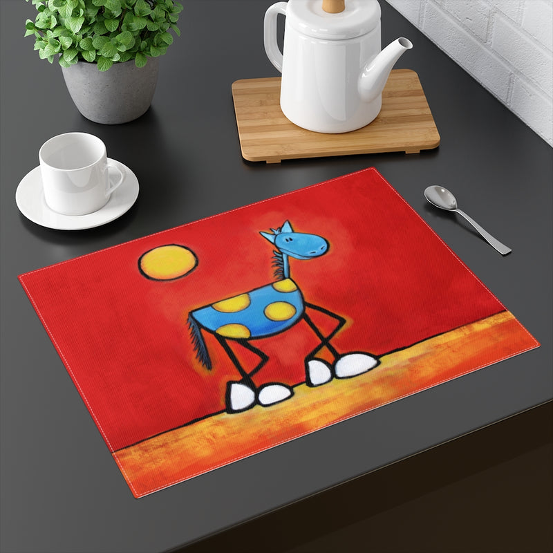 An Incredibly Relaxed Horse Placemat